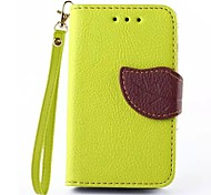 Leaf Shape TPU Case with Holder and Card Holder for Samsung G130h