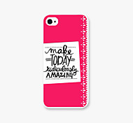 Make TODAY Pattern PC Phone Back Case Cover for iPhone5C