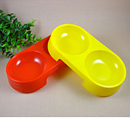 Small Round Double Bowl For Dogs