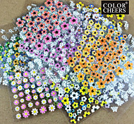 Hot Sale! 50 Mixs Floral Design 3D Nail Art Sticker