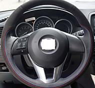 xuji ™ черный натуральная кожа замша руль чехол для 2012 2013 Mazda CX-5 CX5 2014 2015 Mazda 6 Atenza Mazda 3