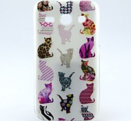 All Kind of Cats Pattern TPU Soft Back Cover Case for Samsung Galaxy Core Plus G350