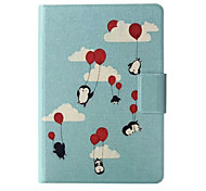 Balloons Penguin Pattern Leather Full Body Case with Stand and Card Slot for Kindle Paperwhite / Kindle Paperwhite 2