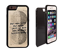 Unique SHE Design 2 in 1 Hybrid Armor Full-Body Dual Layer Shock-Protector Slim Case for iPhone 6 Plus