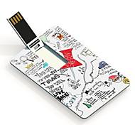32gb cidades papel cartão flash drive USB padrão de design