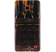 Tribal Feather Patterns TPU Soft Case for Nokia N630