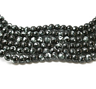 3str(apx.140pcs/str) Beadia Fashion Glass Beads 6mm Round Black Mottled Color DIY Spacer Loose Beads