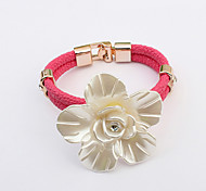 Fashion Alloy/Leather/Rhinestone Bracelet Leather Bracelets Daily/Casual 1pc(Assorted Color)