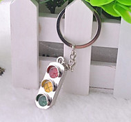 Stainless Steel Traffic Lights Key Chain Ring Keyring