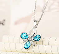 Crystal clover short necklace