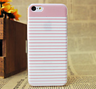 Pink stripes  Pattern Plastic Hard Back Cover for iPhone 5c