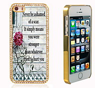el brillo brillo híbrido patrón de flores de lujo Bling con la caja de diamantes de imitación de cristal para el iphone 5 / 5s
