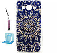 Blue and White  Pattern TPU Case Soft Cell Phone Cases  for Samsung Galaxy Alpha/G5308