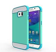 2 in 1 Entwurf zurück umkleiden für Samsung-Galaxie s6edge (verschiedene Farben)