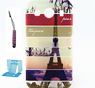 For Samsung Galaxy Case Pattern Case Back Cover Case Eiffel Tower TPU Samsung Ace 4