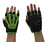 PRO-BIKER Motorcycle Gloves Short Finger /Riding Bicycle Half Finger Gloves /Soft Leather M/L/XL White/Green/Blue/Orange