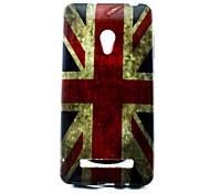 patrón de bandera cubierta del tpu solf británico para el asus zenfone 5
