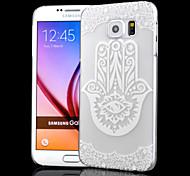 transparent Relief Handwerk Hohlfingerdruck pc Peeling Material Telefonkasten für Samsung-Galaxie-S6