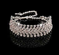 European  Style Full Crystal Charm Bracelet Fine Jewelry for Wedding Party