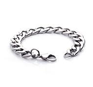Lureme® Fashion Man's Titanium Steel Flat Shape Chain&Link Bracelets