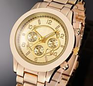 3 cores pulseira rosa senhora pulso de quartzo relógio banda de aço liga de ouro mulheres de moda de luxo ouro prata