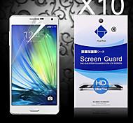 hd screen protector met stof-absorber voor samsung galaxy a3 (10 stuks)