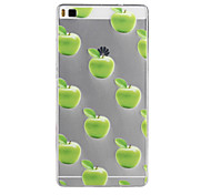 Apple Pattern TPU Soft Case for Huawei Ascend P8