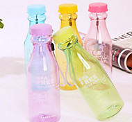 550ML Reusable Unbreakable Soda Water Bottle Leakproof for Sport Cycling (Random Color)