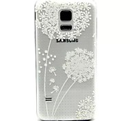 Relief Painting Flying Dandelion Pattern 0.2 Slim TPU Protective Shell for Samsung Galaxy S5 Mimi