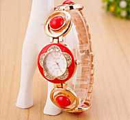 Women's Round Dial Case Alloy Watch Brand Fashion Quartz Watch(Move Color AVailAble)