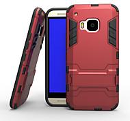 Per Custodia HTC Resistente agli urti / Con supporto Custodia Custodia posteriore Custodia Armaturato Resistente PC HTC HTC One M9