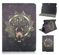 10.1 Inch Cool Skulls Pattern PU Leather Stand Case for Asus MeMO Pad 10-ME103K