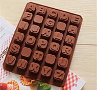 stampi da forno in silicone bakeware forma alfabeto inglese per il cioccolato