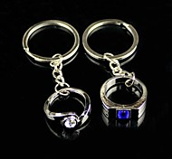 Alloy Lovers Diamond Ring Key Chain