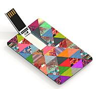 Flor triângulo 32gb unidade flash card usb padrão de design
