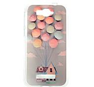 casa balloon modello trasparente cassa del telefono di tpu sottile per Alcatel One Touch pop c7
