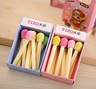 Cute Matchstick Pattern Eraser(Random Colors)