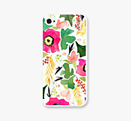 Safflower Greenery Pattern PC Phone Back Case Cover for iPhone5C