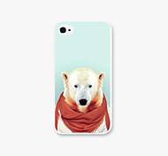 Red Scarf Dog  Pattern PC Phone Case Back Cover for iPhone4/4S Case