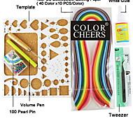 400PCS Quilling Paper DIY Craft Art Decoration Kit / 7PCS Set