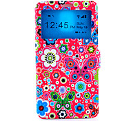 Butterfly Pattern PU Leather Quality Leather for Samsung Galaxy Note 4