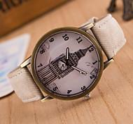 Masculino Mulheres Relógio Esportivo Relógio Elegante Relógio de Moda Relógio de Pulso Mostrador Grande Quartzo Tecido Banda Pendente