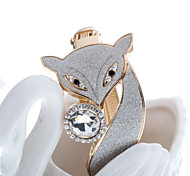 Delicacy Fox Shape Frosted Micro Drill Button Type Bracelet