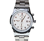 Men Rose Scale Circular Dial Stainless Steel Strap And Quartz Watch