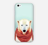 sciarpa rossa caso polare orso PC Phone Back Cover per iPhone 6 caso
