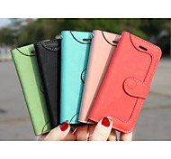 Leather Car Line Border Deduction Card  for IPhone 6(Assorted Colors)