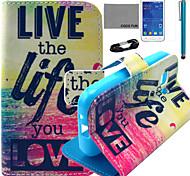 le cas modèle de vie d'amour en cuir PU de coco avec un film et d'un stylet pour Samsung Galaxy jeune 2 G130
