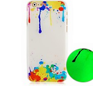 The  Paint Pattern Luminous Hard Back Cover Case for iPhone6