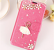 PU Leather Graphic  Diamond Look Full Body Cases Jewel Covered Cases Cases with Stand For Samsung Galaxy A7