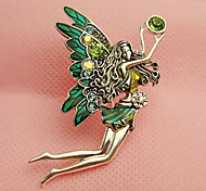 HUALUO®Retro Dancing Angel Wings Diamond Brooch
